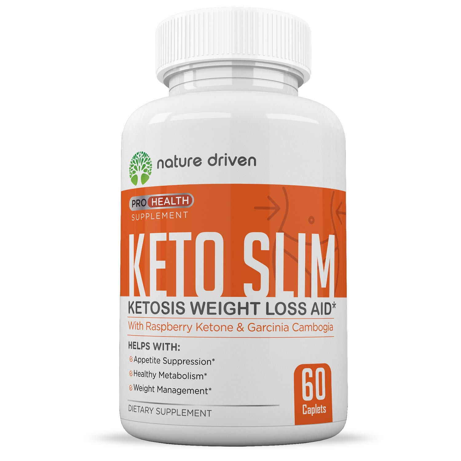 Keto Slim Capsules:: Scientifically Formulated for Men and Women :: Natural, Clean Energy :: Lose Weight :: Control Your Appetite:: One Month Supply :: Nature Driven
