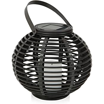 Amazon.com: Kenroy Home 60530RAT Coil Solar Lantern, Black