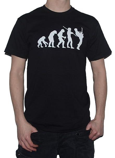 Ape Metal guitarrista to Rock - de la evolución de Man T-camiseta de manga corta diseño de guitarra eléctrica: Amazon.es: Ropa y accesorios