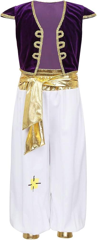 Freebily Aladino - Disfraz de Principito árabe para niño, Chaleco ...