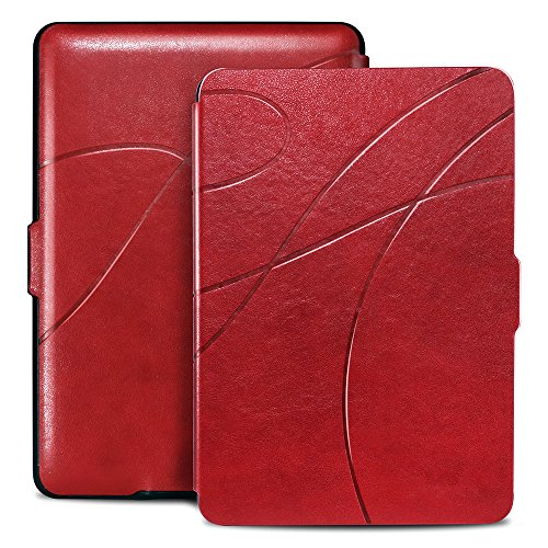 Reexir Smart Case for Kindle Paperwhite – The Lightest and Ultra Slim PU Leather Cover with Auto Sleep / Wake for Amazon All-New Kindle Paperwhite (Fits all 2012, 2013, 2015 and 2016 Versions) (Red) by Reexir