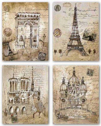 Print Paris Poster Art - Winn Devon Paris Sites Set by Liz Jardine 11