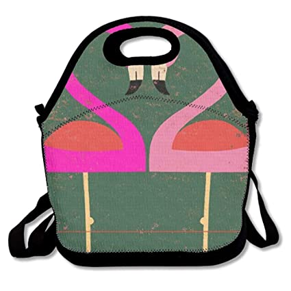 4e3559d079ae Amazon.com: Lunch Boxes Two Pink Flamingos Lunch Tote-Personalized ...
