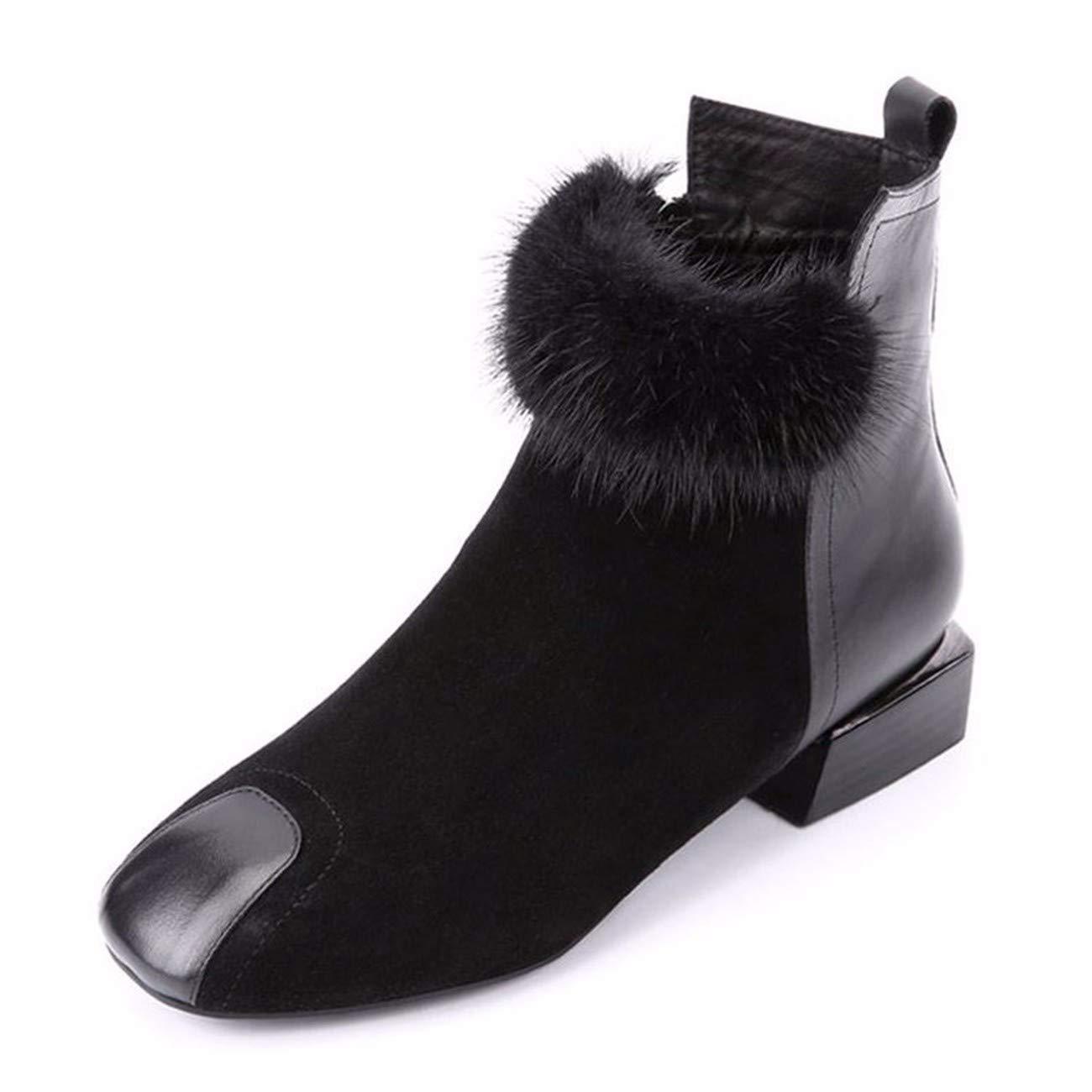 QPGGP-Stiefel Große Schuhe Stiefel Herbst Europäischen Und Amerikanischen Low Heels.