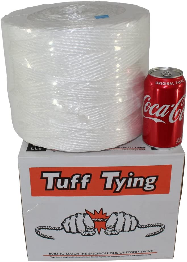 White Commercial Bundling /& Packaging UV Chemical Protection Moisture Center-Pull Box Dispenser 1 ply - 3500 feet SGT KNOTS Polypropylene Twine Tuff Tying Polypro Twine Industrial-Grade