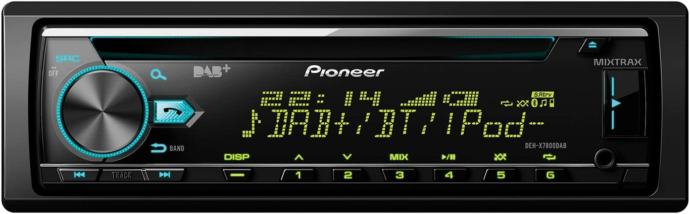 Pioneer DEH-X7800DAB Sintonizador de CD, Negro