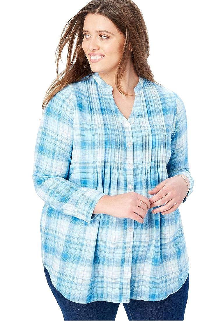 537af627 Womens Plus Size Plaid Shirts - DREAMWORKS