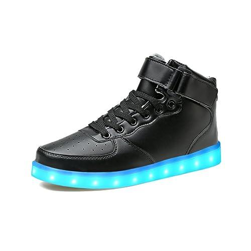 new product 589f4 0dd97 LeKuni Unisex LED Schuhe Leuchtschuhe 2018 Verbesserung 7 Farbe Blinkende  Leuchtende Light up High Top Sneakers(Größe 25-43)