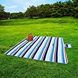 Extra Large Picnic & Outdoor Blanket with Waterproof Backing (80' x80)