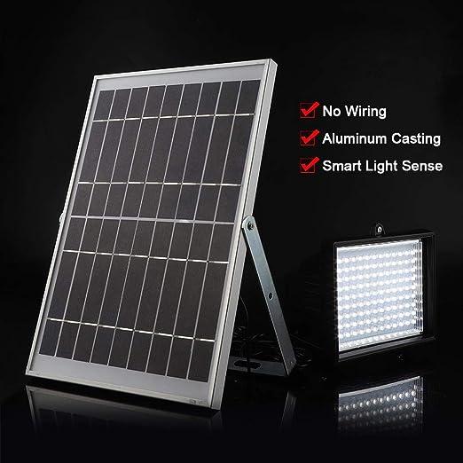 GOTOTP 10W Foco LED Exterior Proyector Solar con Sensor ...