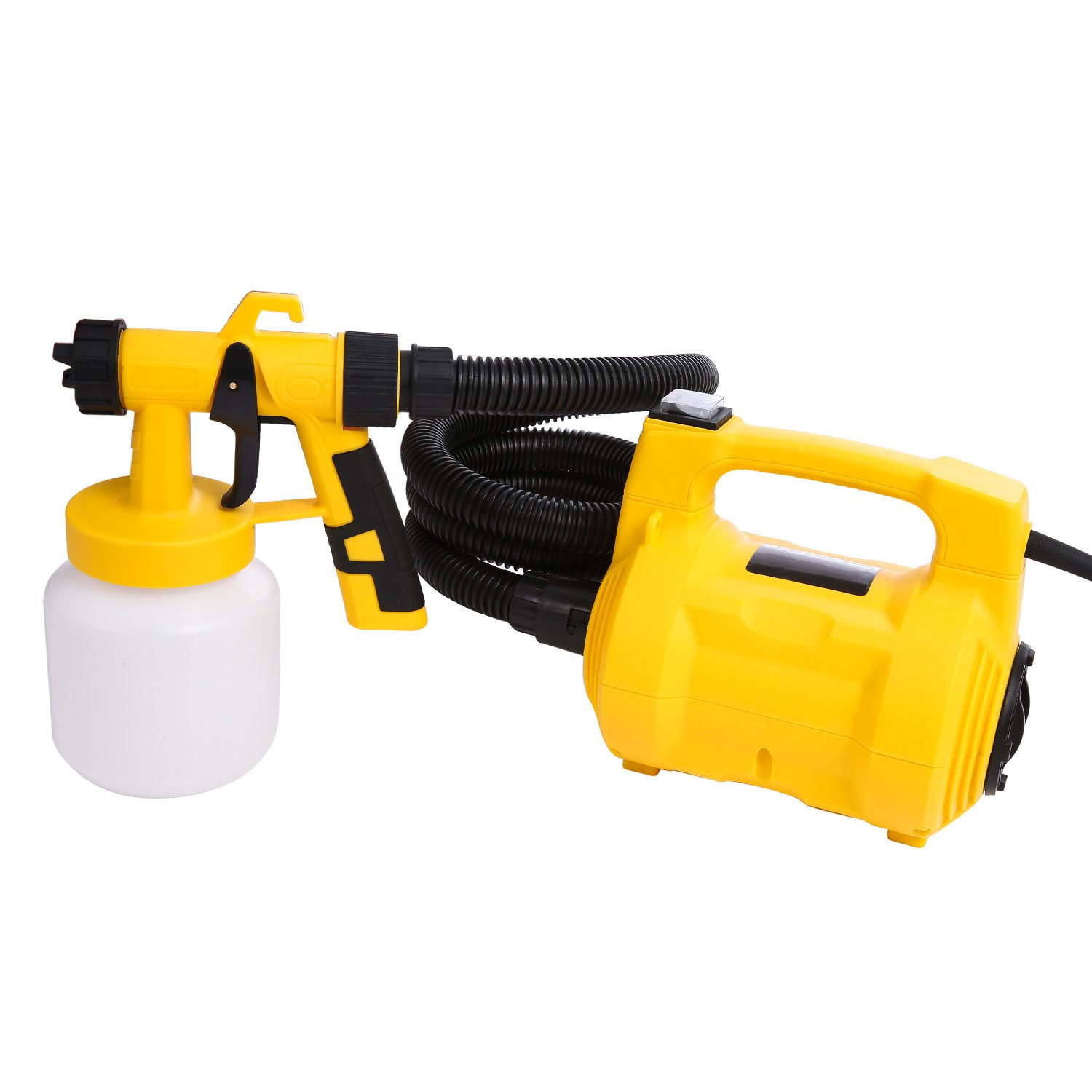 Oanon Electric HVLP Paint Sprayer Spray Gun with 3 Spray Patterns and Flow Control, 4-In-1 Painting Gun, Vacuum Cleaner, Inflatable, Pump for Compressed Bags (HVLP Paint Sprayer)