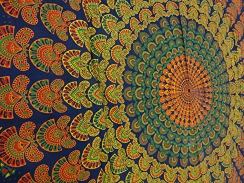 Psychedelic Mandala Art, Hippie Tapestry wall