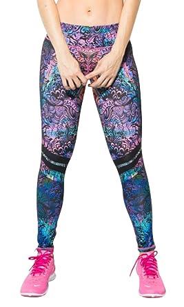 79cd66a7fab1d Amazon.com: Fiber Leggings Coachella Flowers Activewear Compression Yoga  Pants Pilates Women Tights: Clothing
