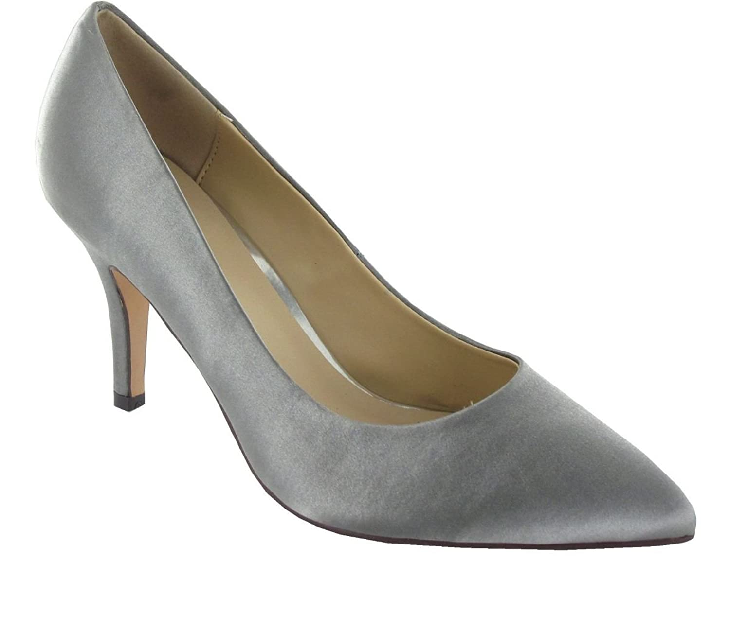Menbur Womens Domingo Pointed Toe Classic Pumps Grey Size 7.0