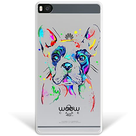 WoowCase Funda Huawei P8, [Hybrid] Perro Bulldog Francés ...