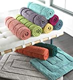 Luxor Linens Spring Bliss 100% Egyptian Cotton Bath Rugs - Blood Orange - Large (24'' x 40'')