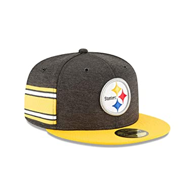 release date c8a0f ac022 Amazon.com  New Era Pittsburgh Steelers NFL Sideline 18 Home On Field Cap  59fifty Fitted OTC  Clothing