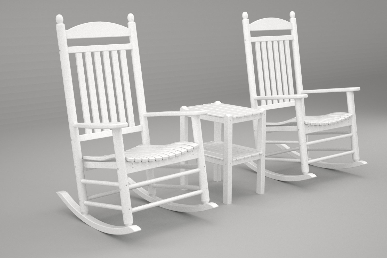 Amazon.com : POLYWOOD PWS111 1 WH Jefferson 3 Pc. Rocker Set, White : Patio Rocking  Chairs : Garden U0026 Outdoor