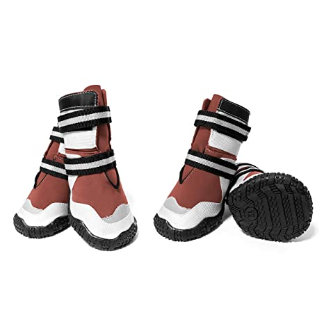0172fac68f3 ECtENX Dog Winter Shoes Pet Boots - Large Dog Booties Breathable Paw  Protectors Nonslip Booties Labrador Husky Shoes, Snow Boots