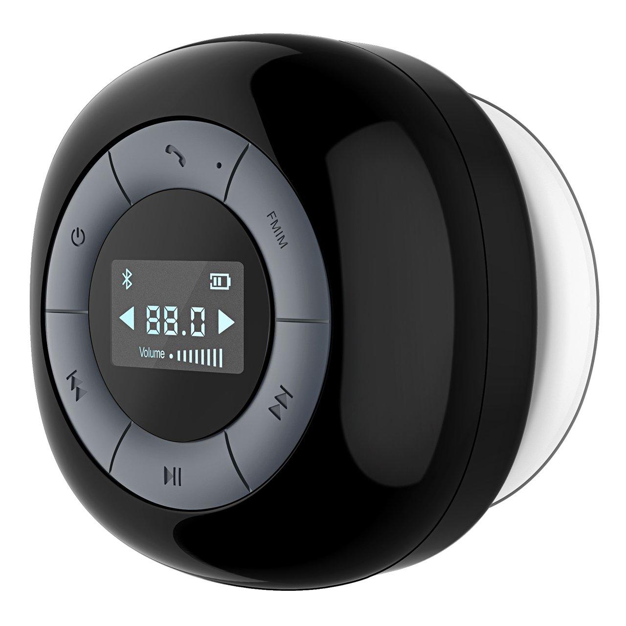 Altoparlante Bluetooth Impermeabile da Doccia VicTsing Altoparlante Bluetooth 4.0 con Microfono Incorporato Radio FM Schermo LCD Ventosa per Doccia / Bagno / Casa / Esterno per iPhone e Smartphone Android e Tablet PC, ecc, Blu VBS1D-vit