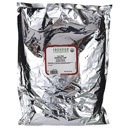 Comfrey Leaves - One 1 lb. Frontier Bulk Comfrey Leaf, Cut & Sifted, Certified Organic