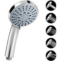Shower Head Universal, Bath Shower Handheld Handset Chrome 5 Spray Modes (Chrome)