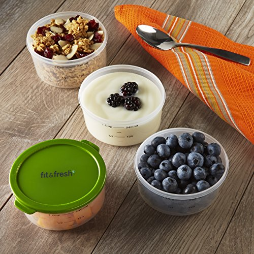Fit & Fresh Smart Portion Chill Container Set, 1 Cup