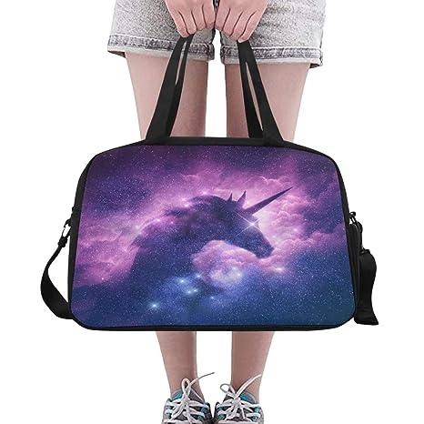 Bolso Tote Una silueta de unicornio en una galaxia Nebulosa ...