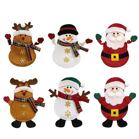 Casa Babbo Natale 2019.Mcgtadyxm Portaposate Costume Da Babbo Natale Renne Pupazzo Di Neve