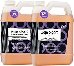 Indigo Wild Zum Clean Laundry Soap, Cedar-Lavender, 32 Fluid Ounce, Set of 2