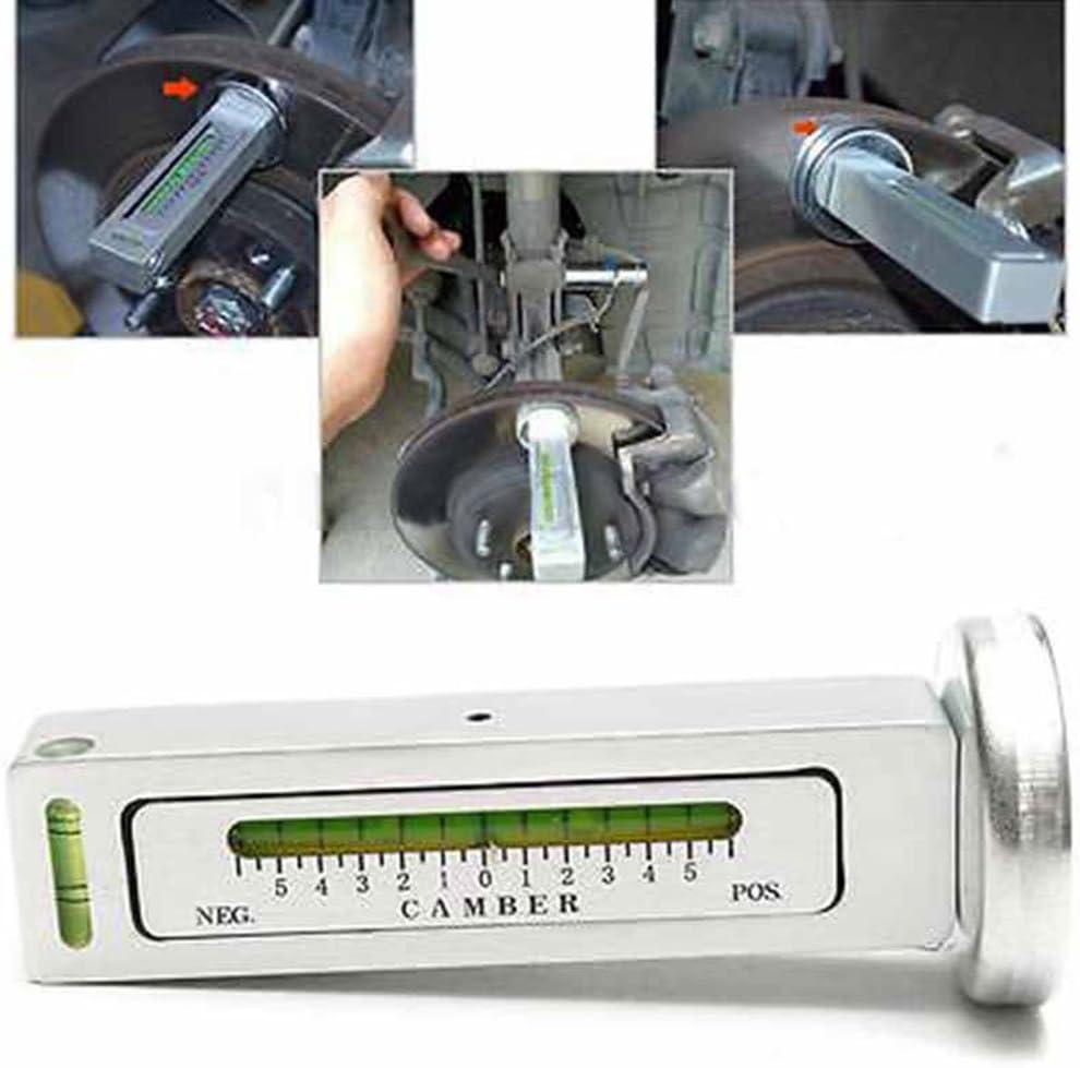 JM Outil de mesure magn/étique pour voiture//cambre Roulette de cambre Alignement JM Appareil de mesure r/églable free size Silver