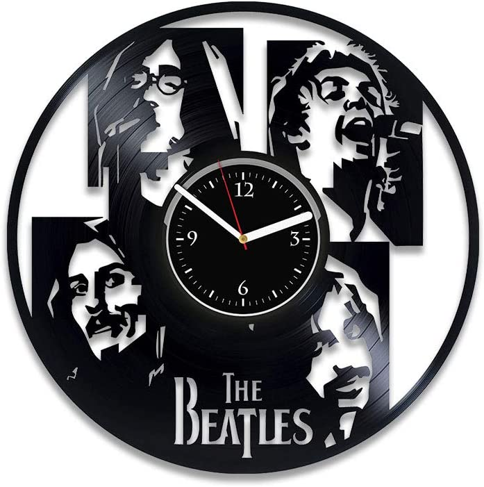 Clock Yesterday Vinyl Wall Clock Beatles Wall Clock Modern Beatles Xmas Idea For Her Rock Music 12 Inch Clock Beatles For Man Beatles Vinyl Record Clock Rock Music Home Decor