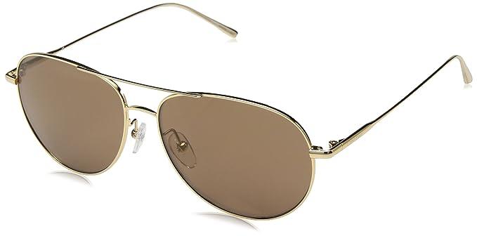 1a8c715511a5 Amazon.com: Calvin Klein Unisex Ck2155s Aviator Sunglasses, GOLD 57 ...
