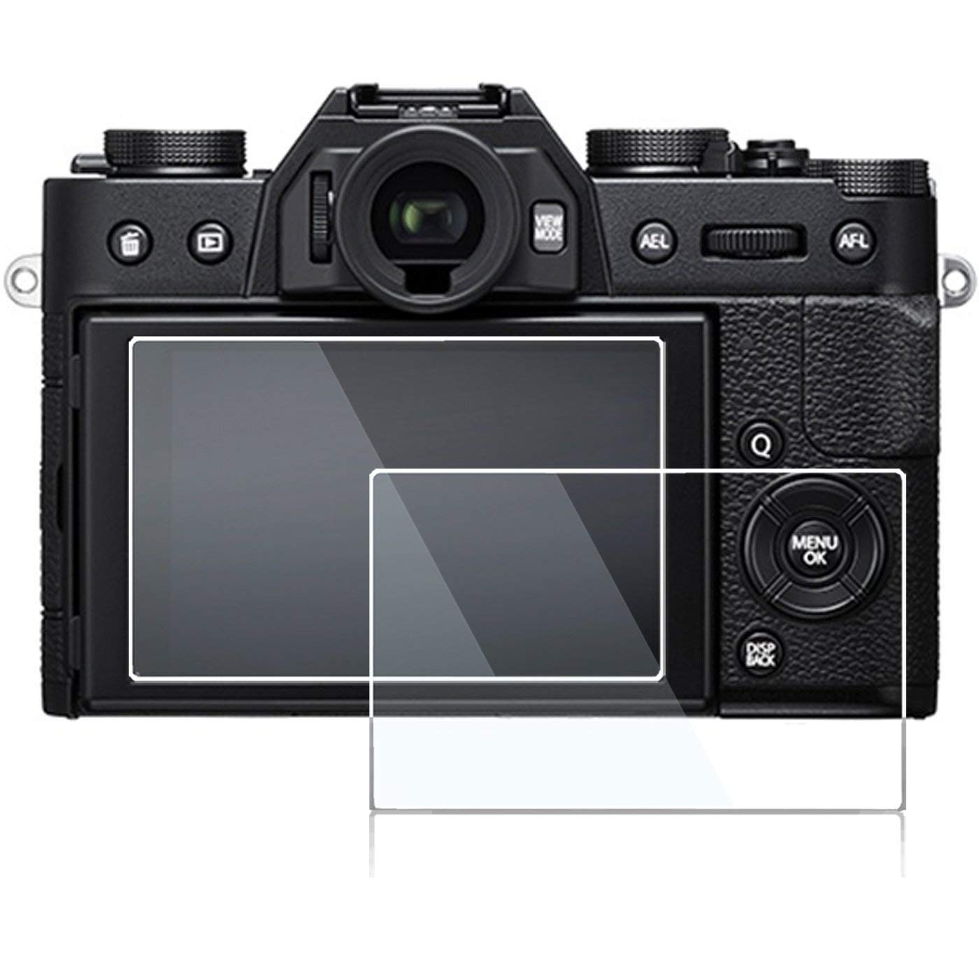 20-4 Glass Screen Protector Foils Compatible for Sony Alpha a6500 / a6400 Touchscreen