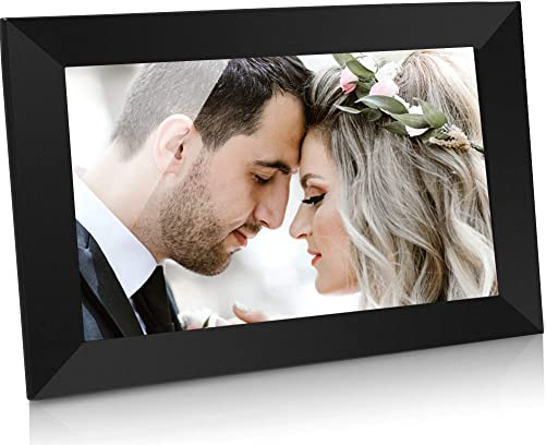 GRC 10.1 Inch WiFi Digital Photo Frame with IPS Full HD Touch Screen, Send Photos and Videos from App iOS Android Anywhere Anytime, 16GB Internal Storage, Support SD Card
