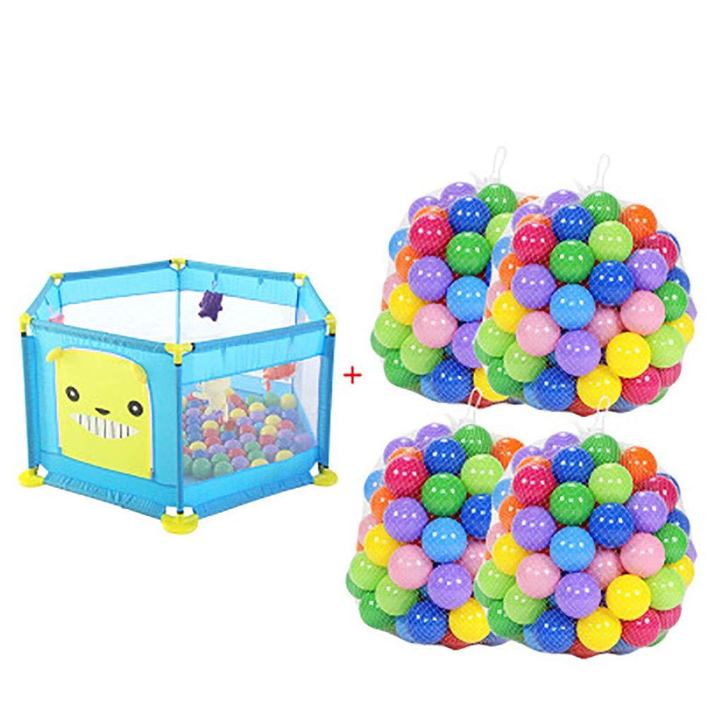 赤ちゃんの囲い 赤ちゃんのフェンスは、ロールオーバーオーシャンボールプールの子供の遊び場を防ぐ (色 : Pink)  Pink B07JDTBW16