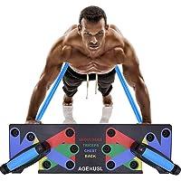 Yooha Push-up Board, Sistema de Entrenamiento portátil con 1 par de Mangos de Silicona Antideslizante, Equipo de Fitness, Soporte de flexión para Fitness, Entrenamiento, Gimnasio, casa, Oficina