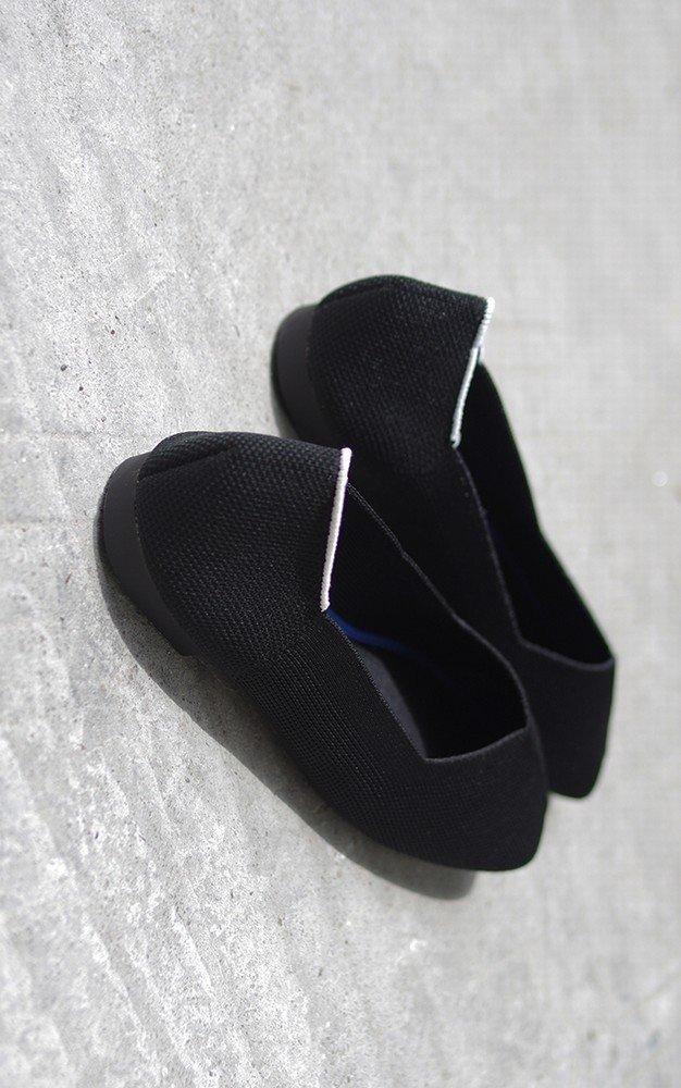 DIDIDD Shallow Mouth Square Kopf Atmungsaktive Stretch-Stoff Mode Boden Weichen Boden Mode Faule Schuhe,Schwarz,38 - 90ee71