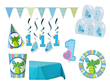Xxl Party Deko Set 1 Geburtstag Junge Blau 68 Teilig