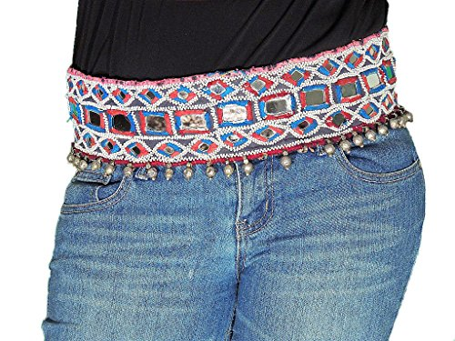 [Belly Dance Beaded Belt - Ethnic Indian Gypsy Embroidered Costume Accessory] (Banjara Dance Costumes)
