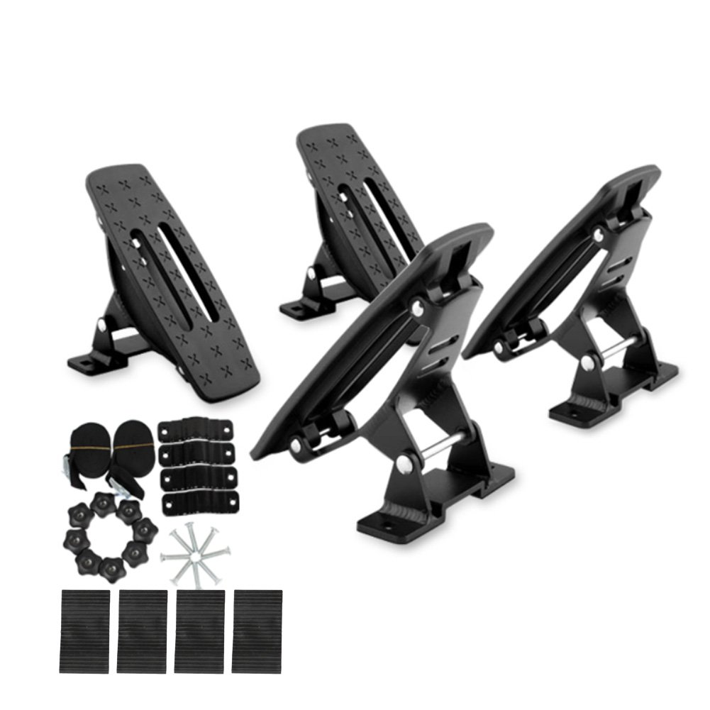 Onefeng Sports Saddle Kayak Roof Rack Canoe Mount Holder Cradle Boat Carrier for Most Car SUV Cross Bars by Onefeng Sports