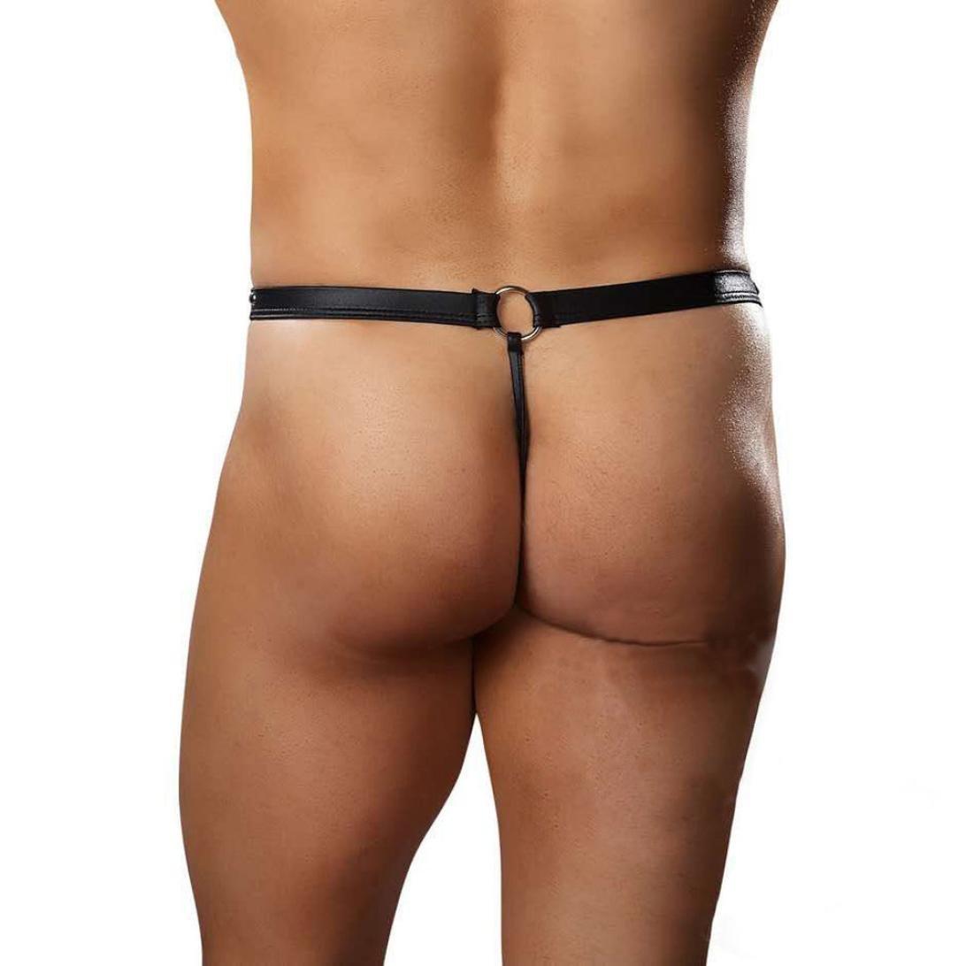 WUAI Mens Mesh G-Strings Breathable Stretch Bulge Rivet Backless Pouch G-string Thongs