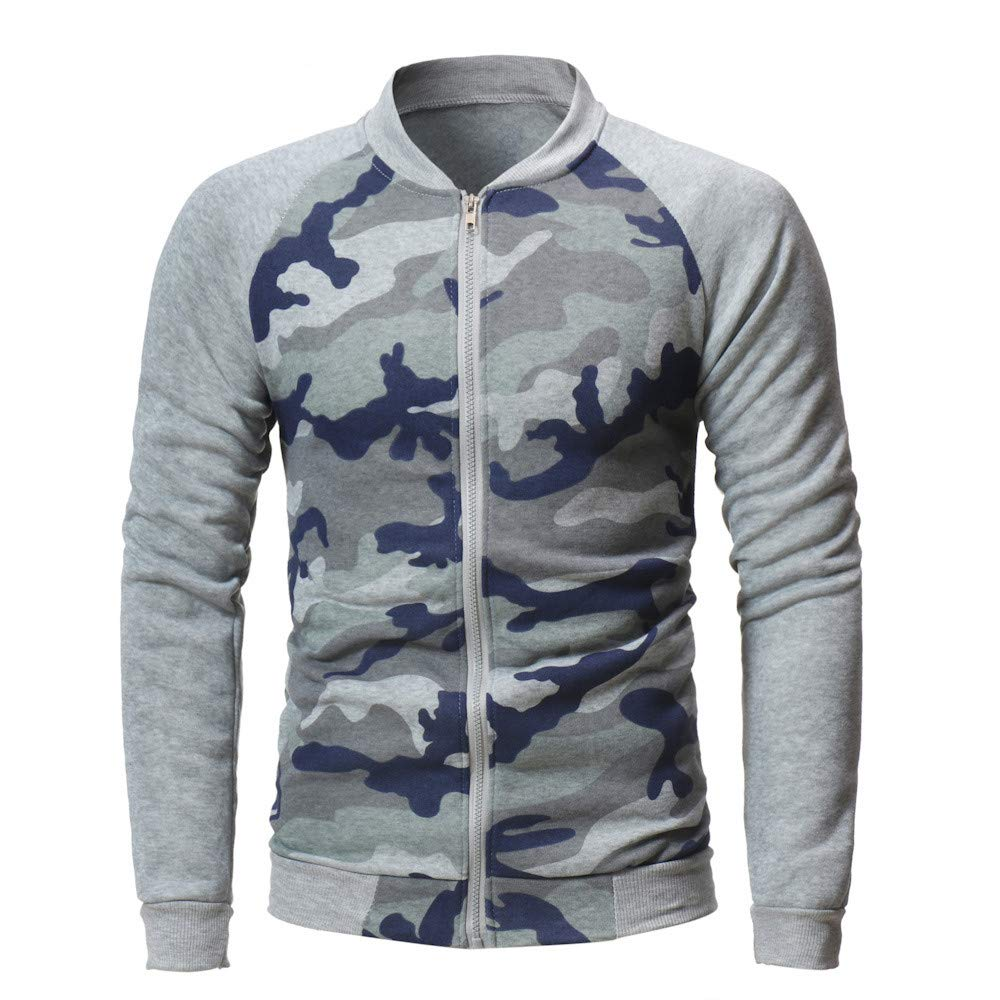 Toimothcn Mens Lightweight Casual Zip Coat Long Sleeve Slim Fit Camouflage Jacket with Pocket 2356488 Toimothcn-619805
