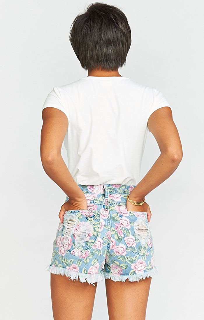 Show Me Your Mumu Womens Toledo Tear Drop Shorts in Bella Rose