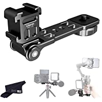Ulanzi PT-13 Triple Cold Shoe Mount for Handheld Gimbals, Stabilizers, Smartphones and Cameras