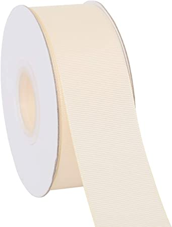 Ribbonitlux 1 wide Solid Grosgrain Ribbon 25 Yards 810-Ivory), Set For Gift Wrapping, Party Decor, Sewing Applications, Wedding and Craft