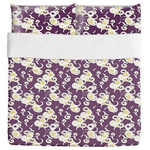 Art Africa Duvet Bed Set 3 Piece Set Duvet Cover - 2 Pillow Shams - Luxury Microfiber, Soft, Breathable by uneekee