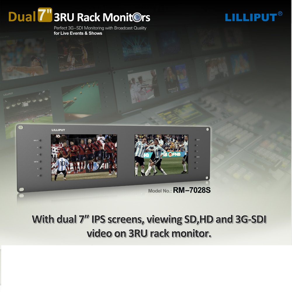 Lilliput Rm-7028s Dual 7'' 3ru Rack Monitors with Hdmi Ypbpr Tally Out 3g SDI by LILLIPUT (Image #5)