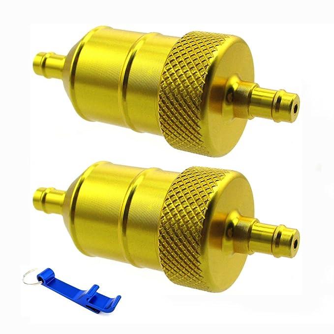 TC-Motor - Filtro de combustible de aluminio dorado 1/4 para Go ...