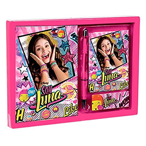 Amazon.com: Disney Soy Luna Diary Gift SET Diario Notepad + Address Book + Pen Original: Toys & Games